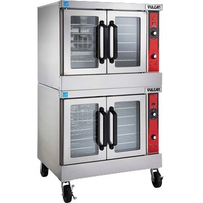 Vulcan VC66ED Double Full Size Electric Convection Oven - 208v/3ph