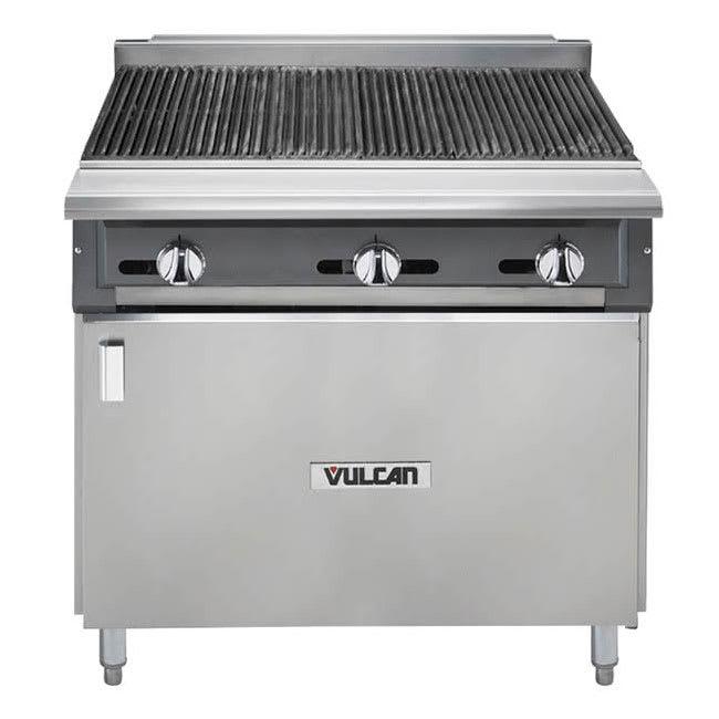 "Vulcan VCBB36B 36"" Gas Range w/ Charbroiler - Cabinet Base, LP"