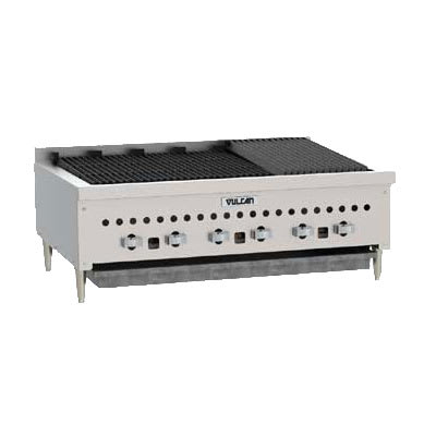 "Vulcan VCCB36 36"" Radiant Charbroiler w/ Cast Iron Grates, 87,000 BTU, NG"