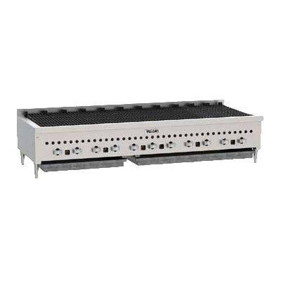 "Vulcan VCCB60 60"" Charbroiler - Low Profile, Cast Iron Grates, 159,000 BTU, NG"
