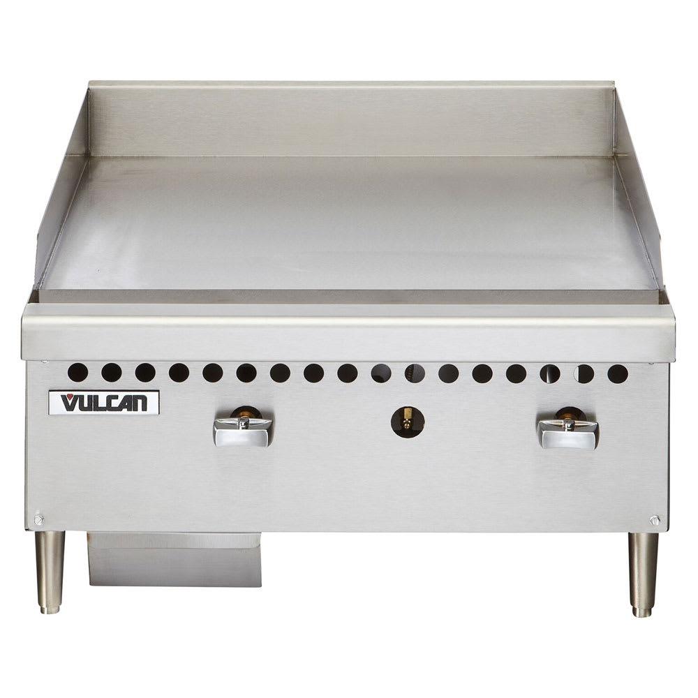 "Vulcan VCRG24MLP 24"" Gas Griddle - Manual, 1"" Steel Plate, LP"