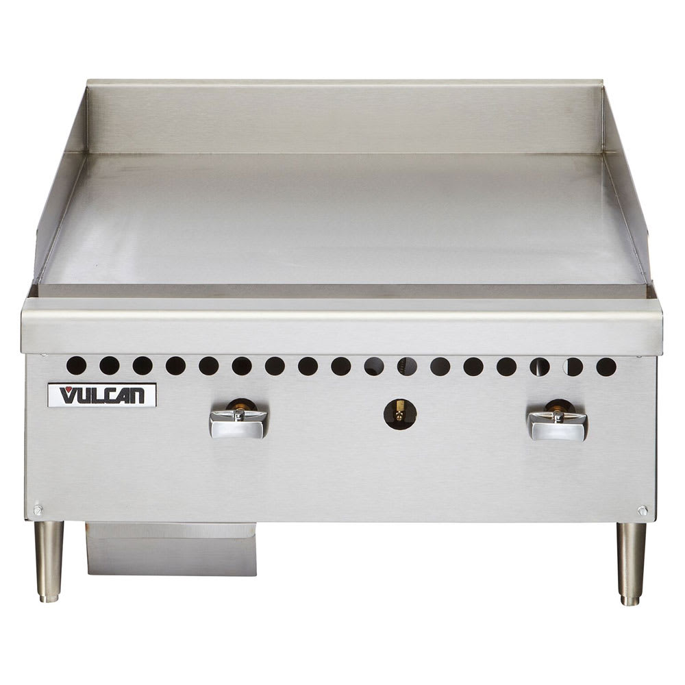 "Vulcan VCRG24MNG 24"" Gas Griddle - Manual, 1"" Steel Plate, NG"