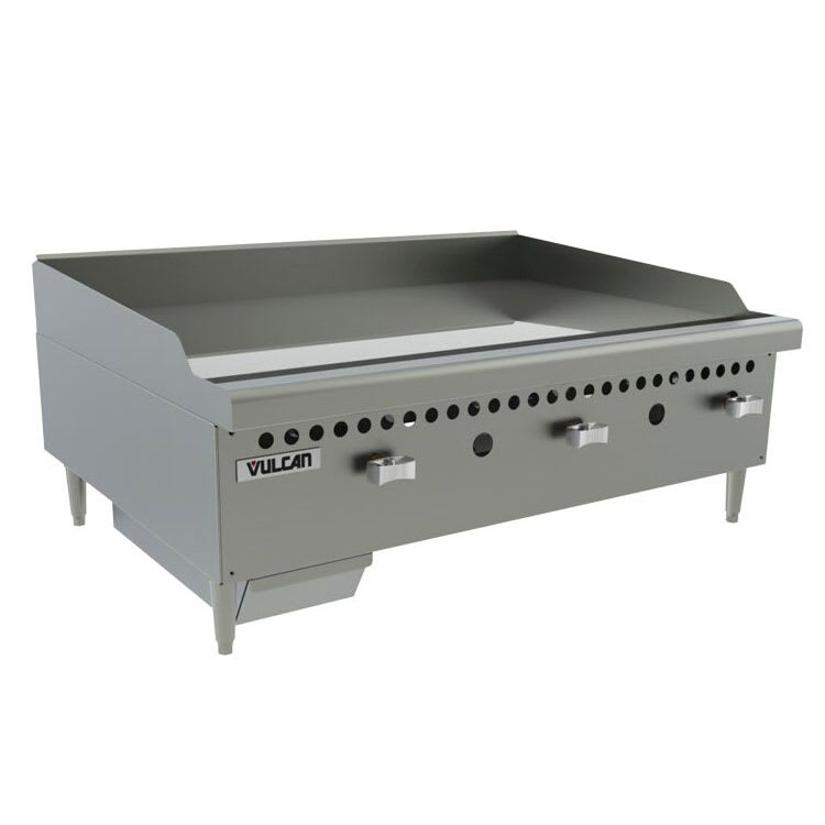 "Vulcan VCRG36-M 36"" Gas Griddle - Manual, 1"" Steel Plate, LP"