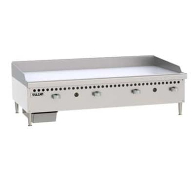 "Vulcan VCRG48-M 48"" Gas Griddle - Manual, 1"" Steel Plate, LP"