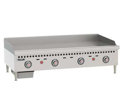 "Vulcan VCRG48TLP 48"" Gas Griddle - Thermostatic, 1"" Steel Plate, LP"