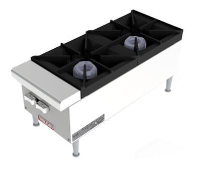 "Vulcan VCRH12 12"" Gas Hotplate w/ (2) Burners & Infinite Controls, NG"