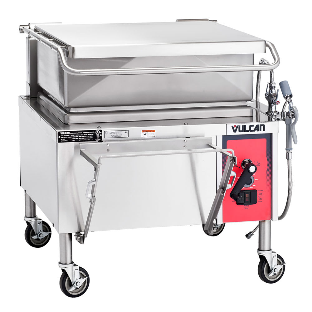 "Vulcan VE30 36"" Braising Pan w/ 30 Gallon Capacity, Manual Tilt, 240/3 V"