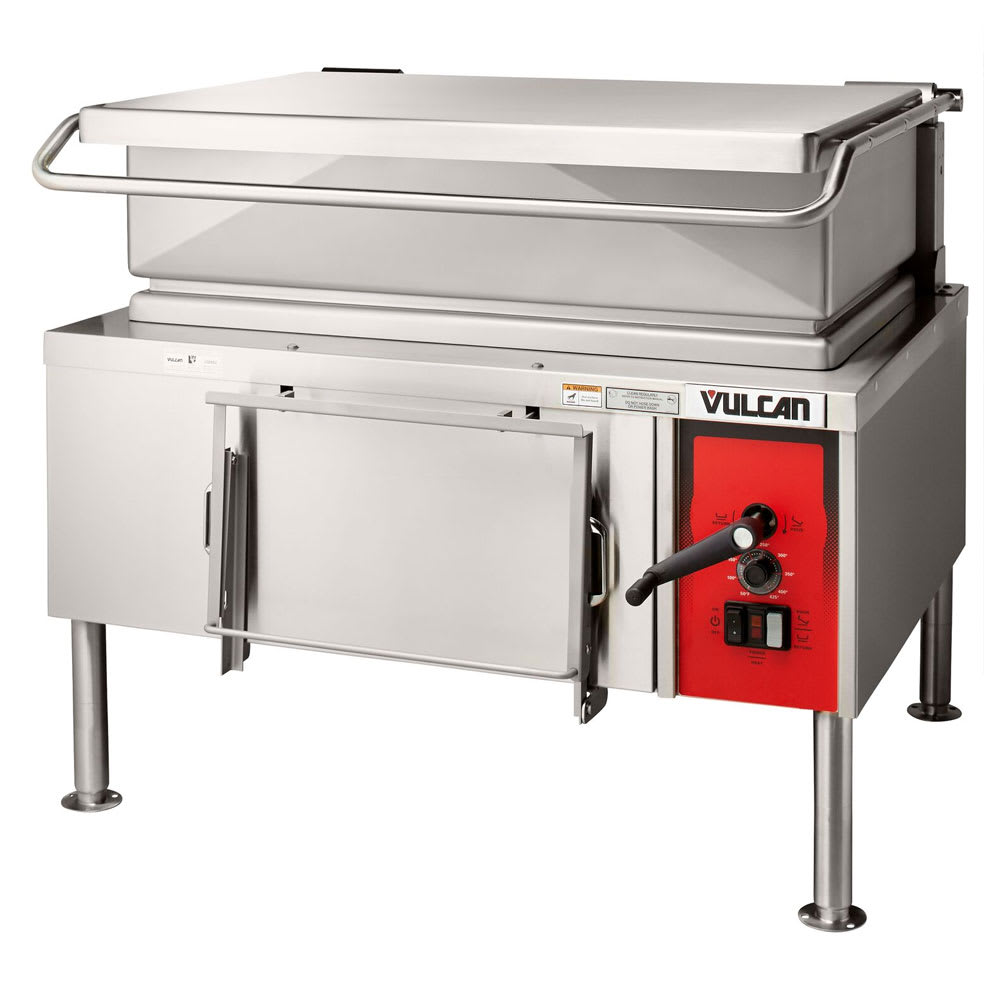 "Vulcan VE40 46"" Braising Pan w/ 40 Gallon Capacity, Manual Tilt, 240/1 V"