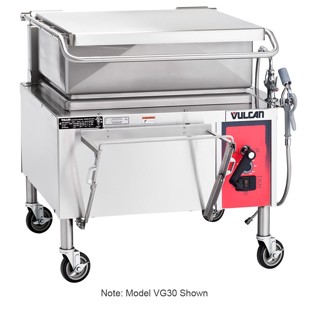 "Vulcan VG40 46"" Braising Pan w/ 40 Gallon Capacity, Manual Tilt, NG"