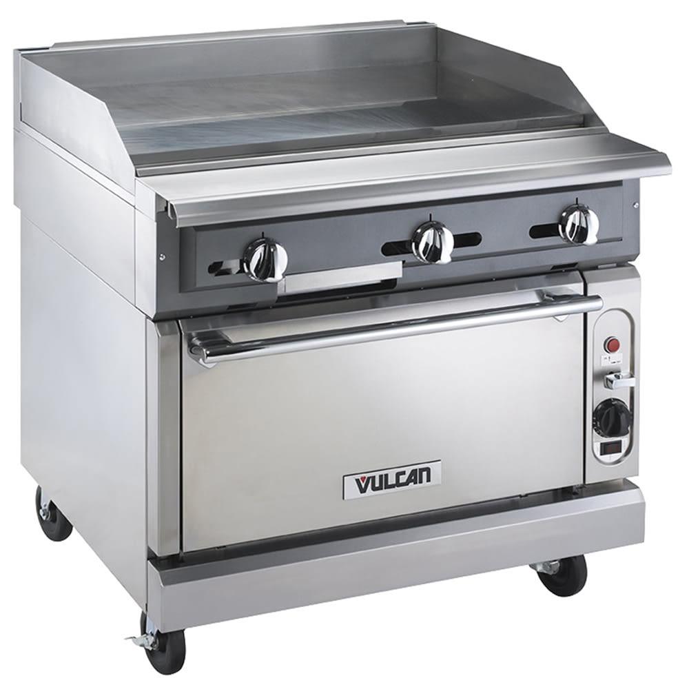 "Vulcan VGM36C 36"" Gas Range w/ Griddle Top - Convection Oven, LP"