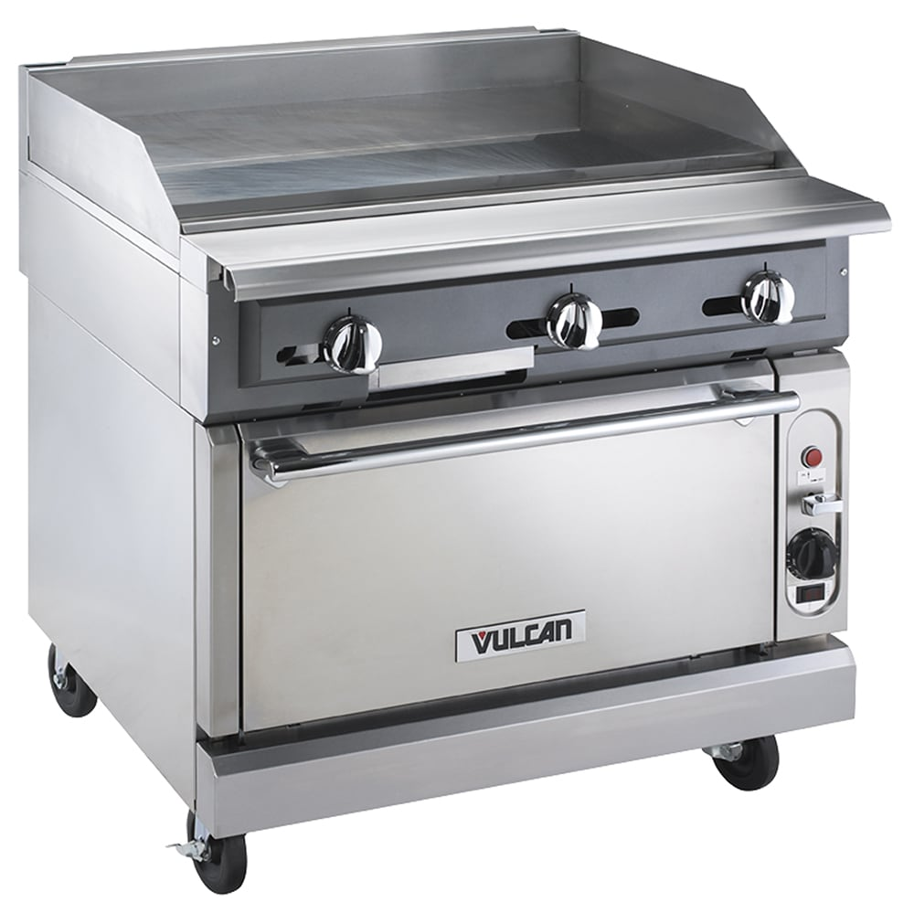 "Vulcan VGMT36C 36"" Gas Range w/ Griddle Top - Convection Oven, LP"