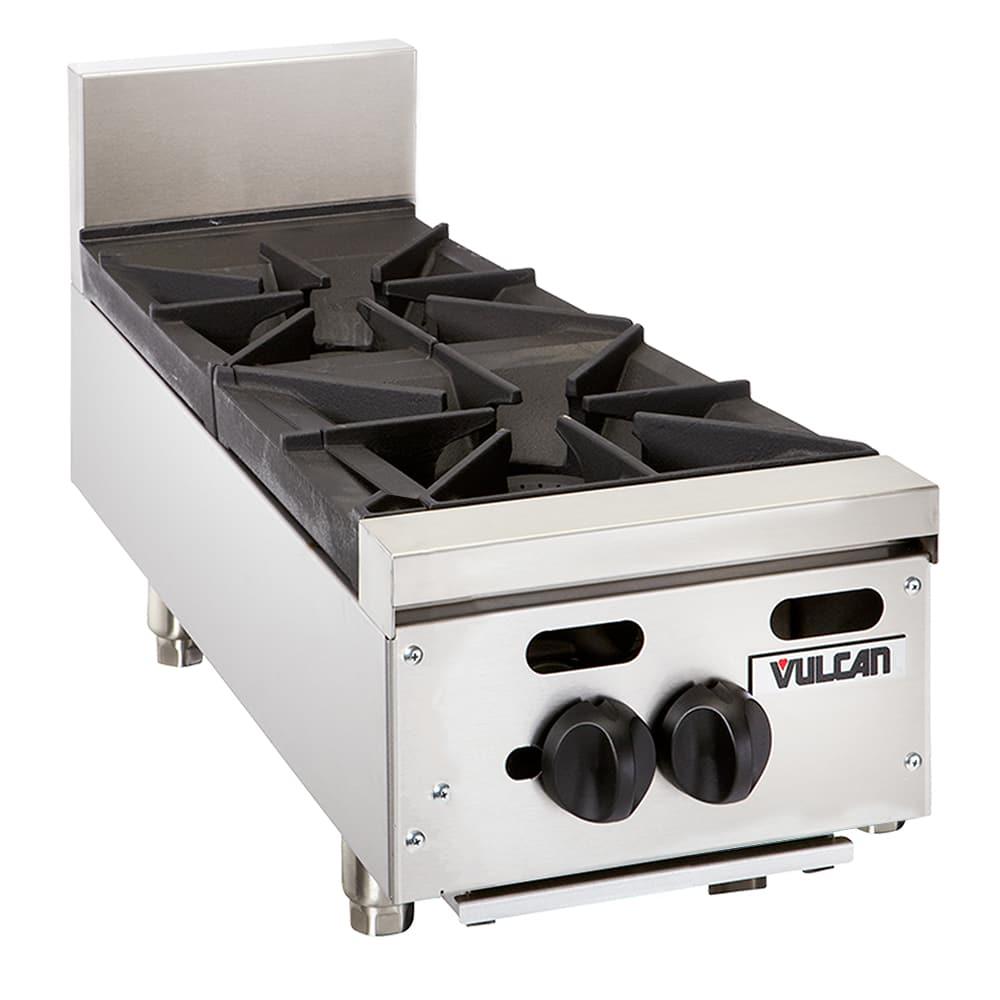 "Vulcan VHP212 12"" Gas Hotplate w/ (2) Burners & Infinite Controls, LP"