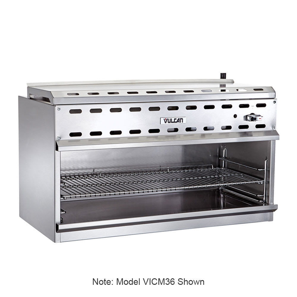 "Vulcan VICM48 48"" Gas Cheese Melter w/ Infrared Burner, Stainless, NG"