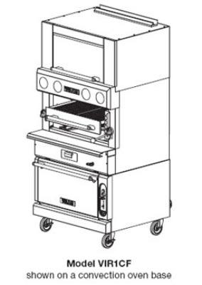 Vulcan VIR1F Deck-Broiler w/ Infrared Burners, Refrigerated Base, NG