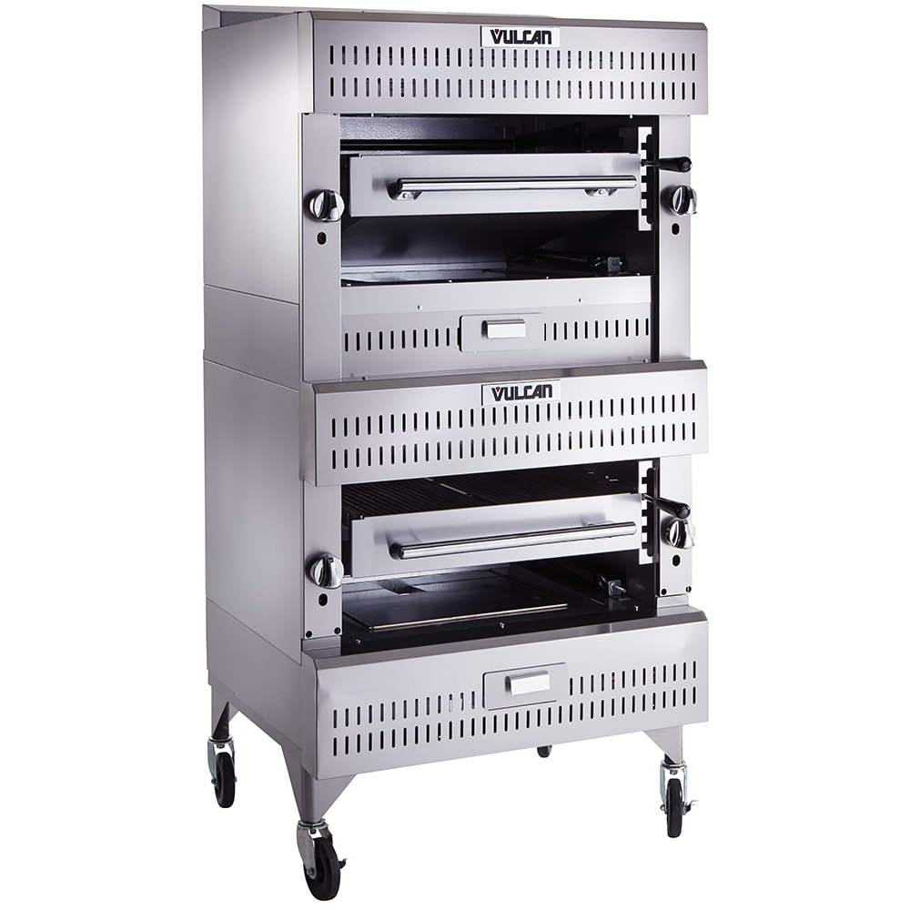 "Vulcan VIR2 Deck Broiler - Double Deck Burners, (2)25.5x24.5"" Cooking Grids, Stainless Steel, LP"