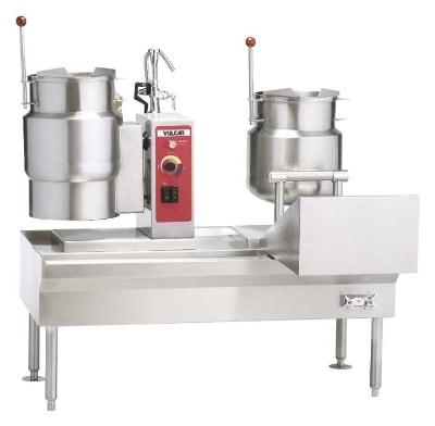 """Vulcan VKT80/6666 80"""" Kettle Assemble w/ 4-Kettle, Direct Steam, 24-Gallon Capacity"""