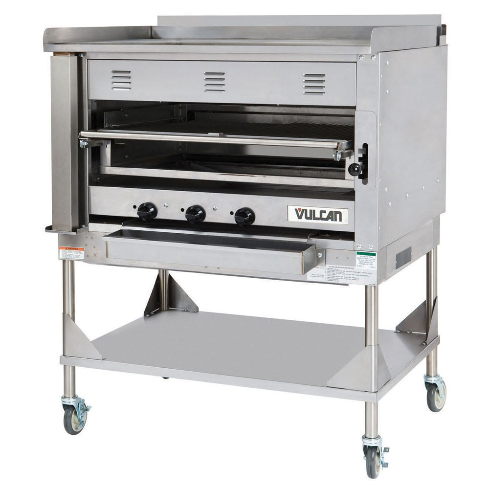 "Vulcan VST4B 45"" Chophouse Broiler w/ Over-Fired Deck, Griddle Plate, NG"