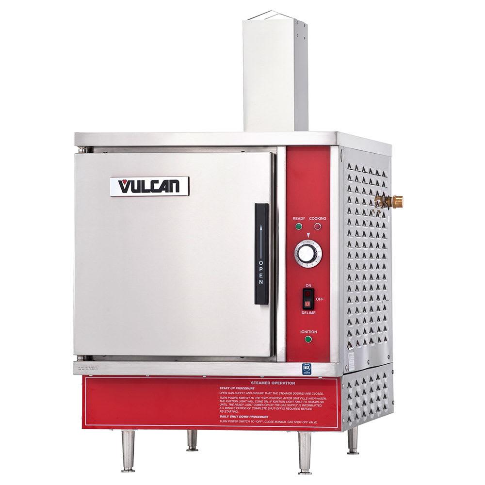 Vulcan VSX5G Gas Countertop Steamer w/ (5) Full Size Pan Capacity, LP