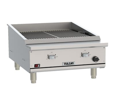 "Vulcan VTEC25 25.5"" Countertop Charbroiler w/ Conversion Burner, LP"