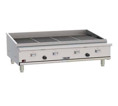 """Vulcan VTEC48 47.5"""" Countertop Charbroiler w/ Conversion Burner, LP"""