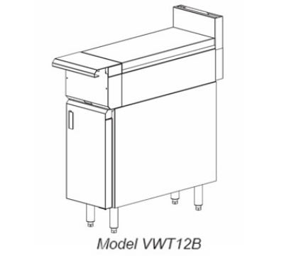 "Vulcan VWT12 12"" Heavy Duty Range, Work Top, Modular, NG"