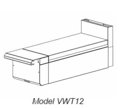 "Vulcan VWT24 24"" Heavy Duty Range, Work Top, Modular, NG"