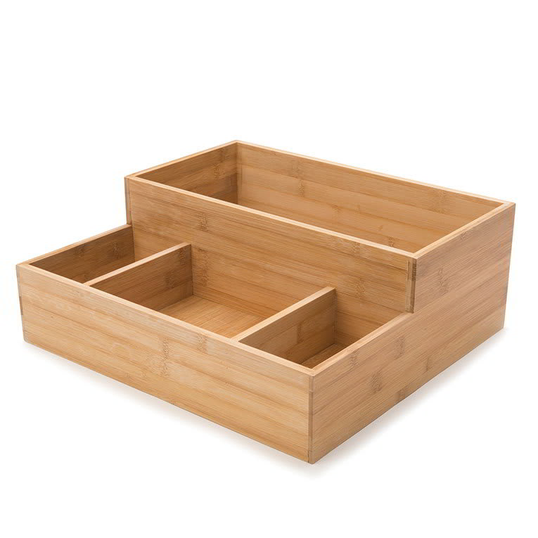 Rosseto BD109 Condiment Tray - Natural Bamboo, fits Small Bakery Drawer