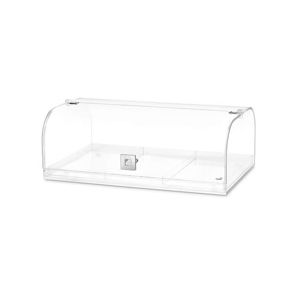 "Rosseto BD119 Bakery Case w/ Removable (3) Row Divider, 19.25"" x 12"" x 7"", Acrylic, Clear"