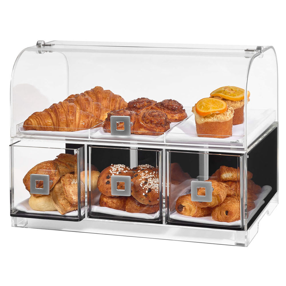 "Rosseto BD128 Countertop Bakery Display Case w/ (2) Tiers, 19.1"" x 12.75"" x 15"", Clear Acrylic"