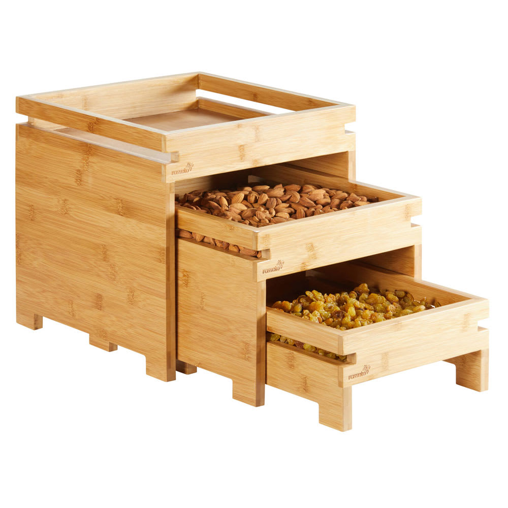 Rosseto BD131 Natura™ Box Stand w/ (3) Tiers, Bamboo