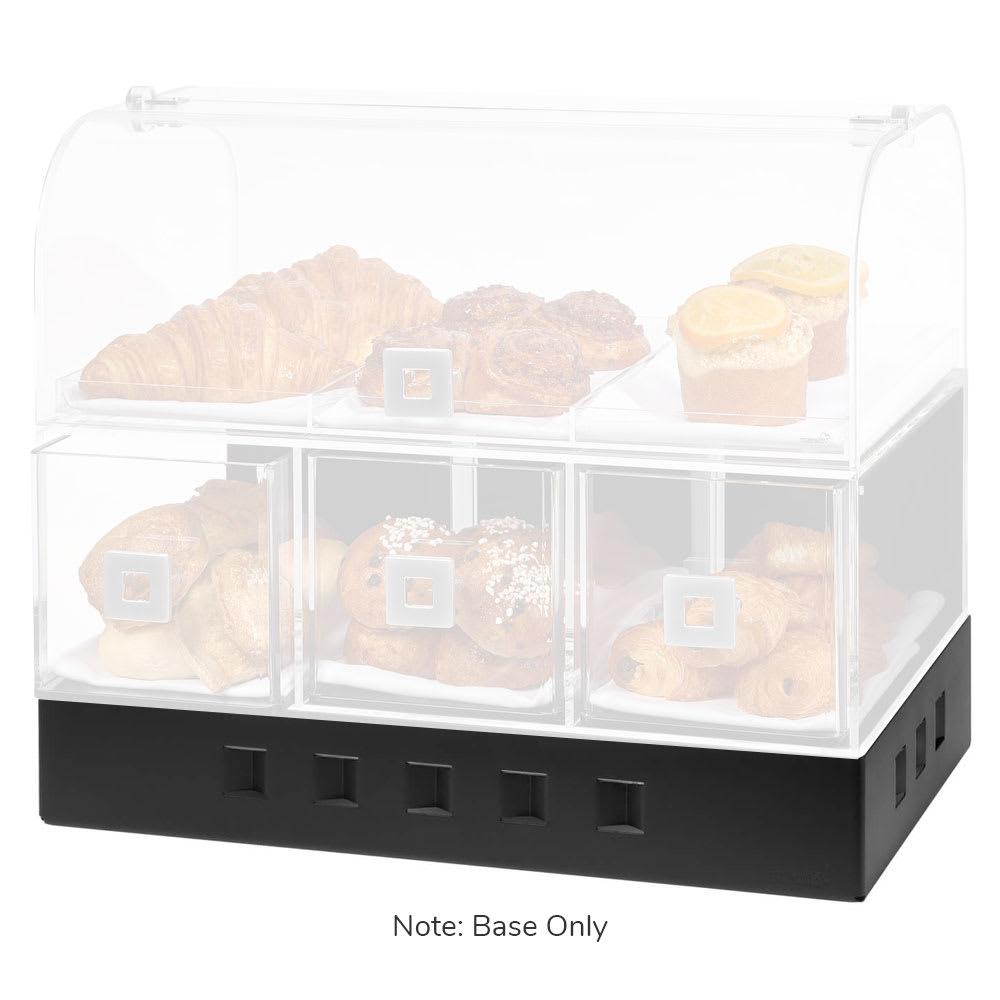 Rosseto BK013 Base Frame for BD115, BD119, BD128, & BD129 Bakery Display Cases - Stainless, Matte Black
