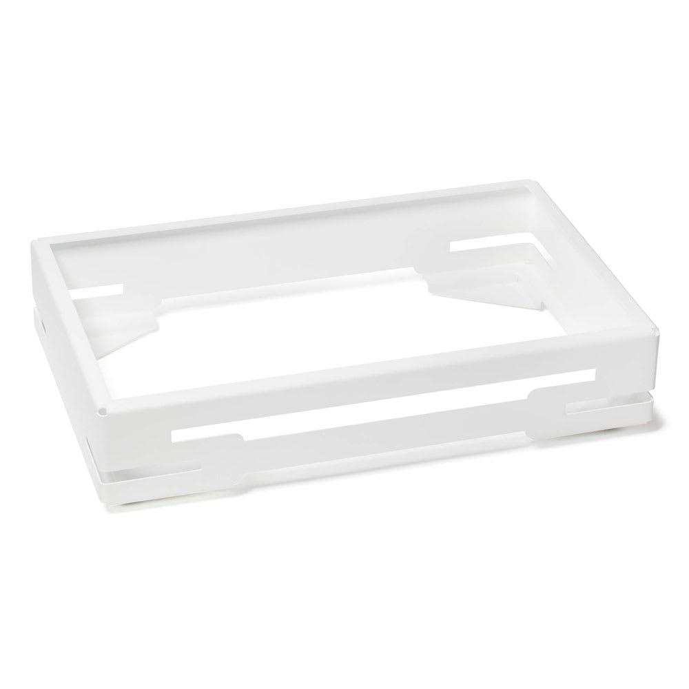 Rosseto BK014 Base Frame for BD115, BD119, BD128, & BD129 Bakery Display Cases - Stainless, Matte White