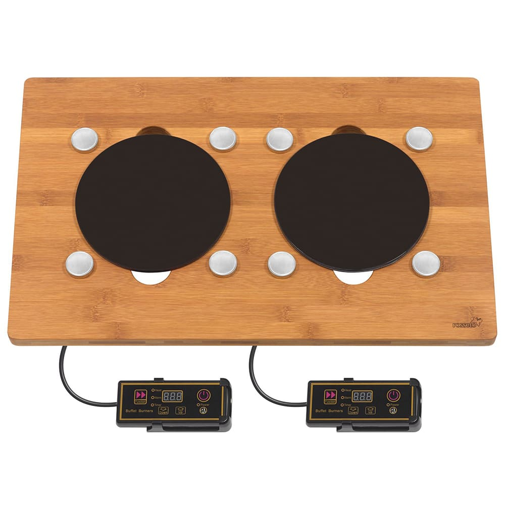 Rosseto BP007 Drop-In Commercial Induction Cooktop w/ (2) Burners, 110v