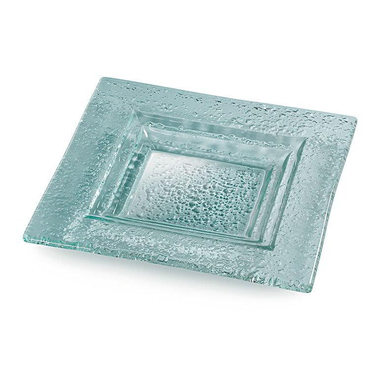 """Rosseto GSP14 14"""" Glass Square Serving Platter - Green"""