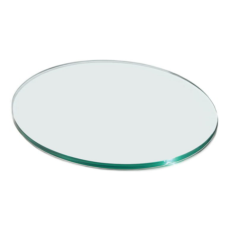 "Rosseto GTC50 20"" Glass Round Display Shelf/Tray - Clear"