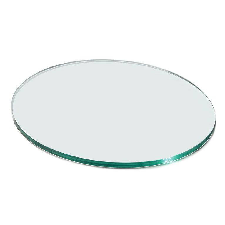"""Rosseto GTC50 20"""" Glass Round Display Shelf/Tray - Clear"""