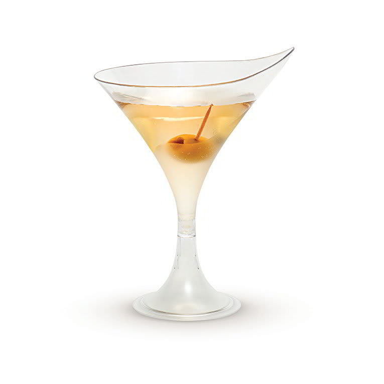 Rosseto L50200 5 1/2 oz Liteware Martini Glass - Polystyrene, Clear