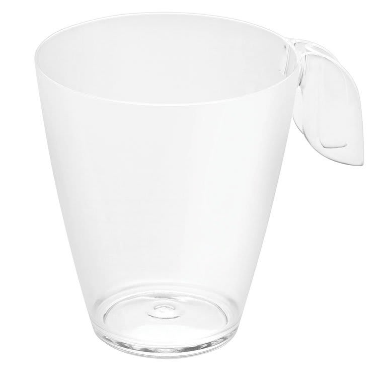 Rosseto L50600 8 oz Liteware Leaf Coffee Cup - Polystyrene, Clear