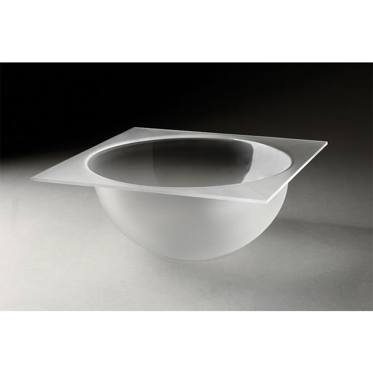 """Rosseto LBT1357 11-1/2"""" Round Serving Bowl - Frosted Acrylic"""