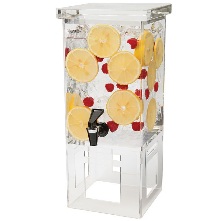 Rosseto LD106 1 gal Rectangular Beverage Dispenser - Acrylic Base