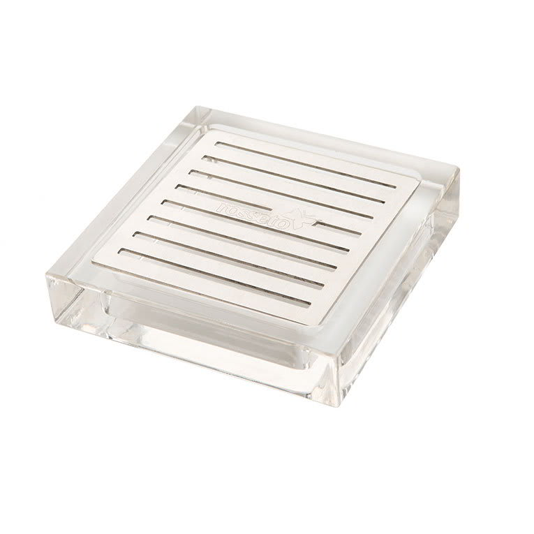 Rosseto LD108 Square Acrylic Drip Tray with Stainless Steel Insert