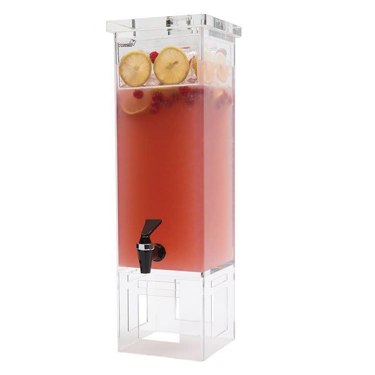 Rosseto LD111 2 gal Rectangular Beverage Dispenser - Acrylic Base