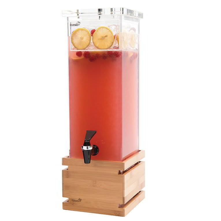 Rosseto LD112 2-gal Rectangular Beverage Dispenser - Bamboo Base