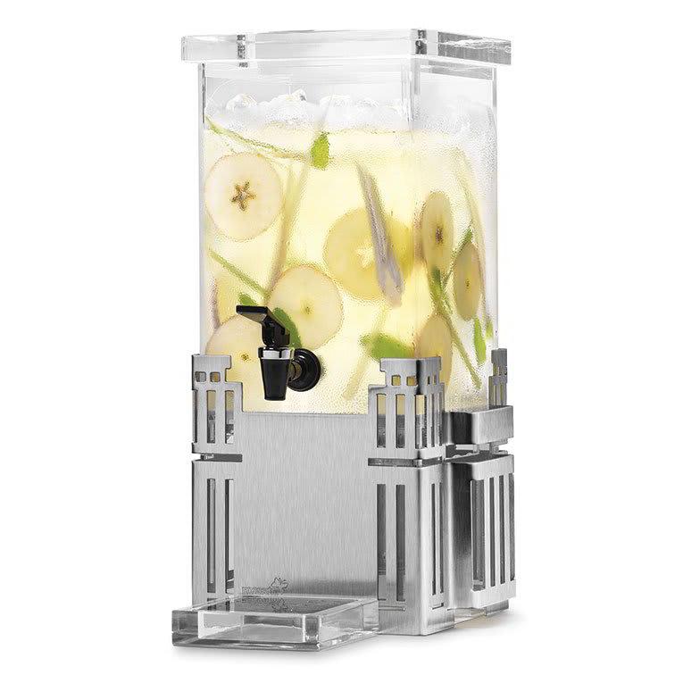 Rosseto LD117 1-gal Rectangular Beverage Dispenser - Stainless Base