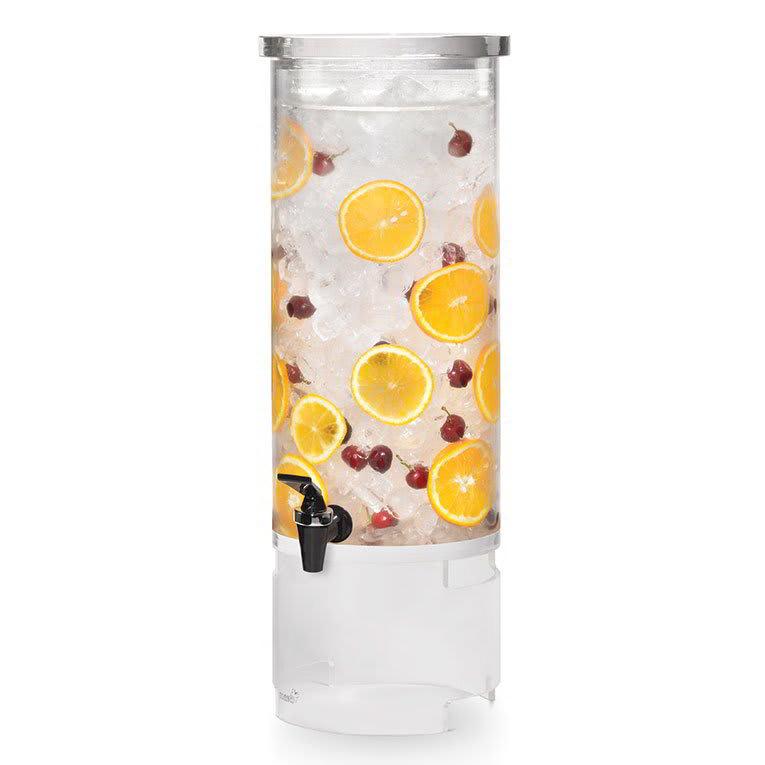 Rosseto LD123 3 gal Round Beverage Dispenser - Ice Basket, Acrylic Base