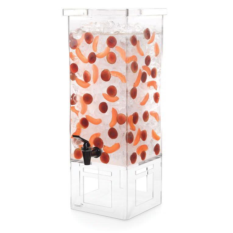 Rosseto LD128 4-gal Square Beverage Dispenser - Ice Basket, Acrylic Base
