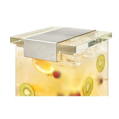 Rosseto LD146 3-gal Beverage Dispenser w/ Ice Chamber, Acrylic Base