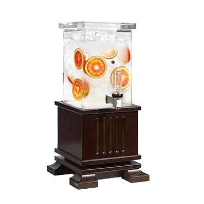 Rosseto LD151 1-gal Beverage Dispenser - Oak Base, Walnut Finish