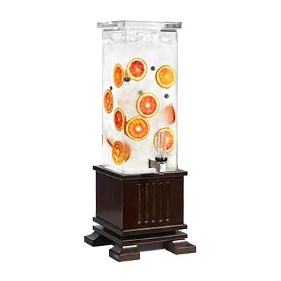 Rosseto LD152 2-gal Beverage Dispenser - Oak Base, Walnut Finish