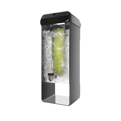 Rosseto LD154 3-gal Beverage Dispenser - Acrylic Base, Black